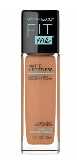 فاونديشن و كريم الأساس ميبيلين Fit Me Matte + Poreless من Maybelline