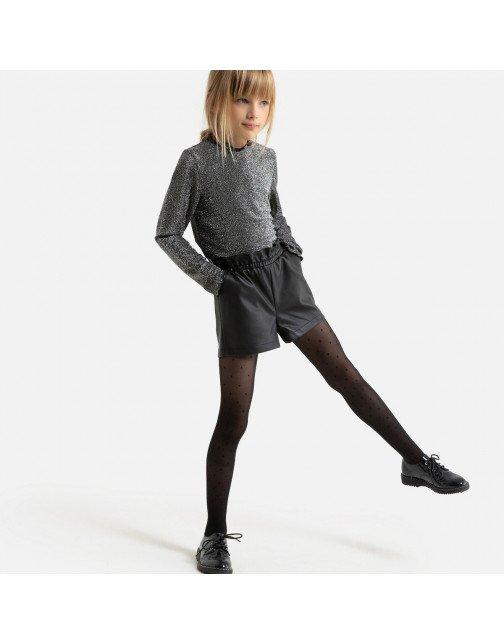 فوغا كلوسيت اطفال -LA REDOUTE COLLECTIONS شورت جلد صناعي 3-12 سنة