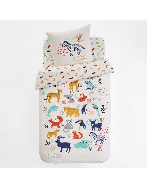 فوغا كلوسيت اطفال - LA REDOUTE INTERIEURS غطاء لحاف بطباعة حيوانات